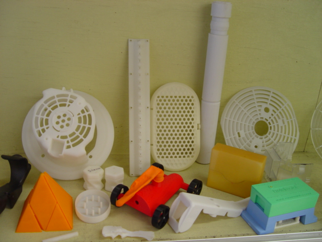 Toys made from the new 3D printer.