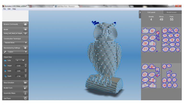 A picture showing Autodesk 123D.