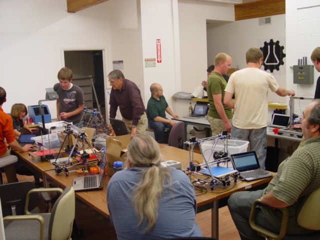A picture of our Open Make Days.