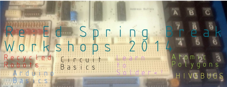 A poster for spring break workshops.
