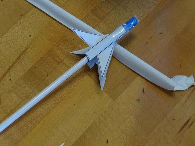 Another completed Straw Rocket