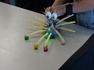This robot has eyelashes!