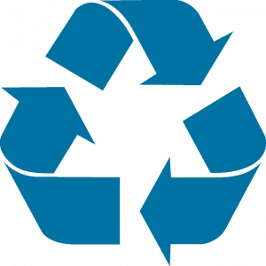 The reduce, reuse, recycle symbol.
