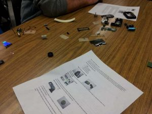 The various pager parts.