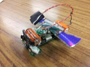 One of the completed robots.
